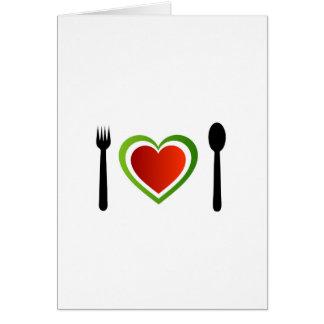 Cocina italiana tarjeta de felicitación
