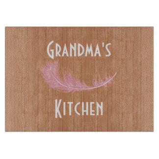 Cocina la falsa de la abuela de madera rústica tablas para cortar