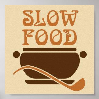 Cocina lenta de la comida póster
