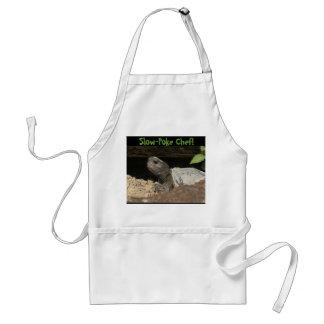 ¡Cocina lenta de la tortuga de Gopher! Delantales
