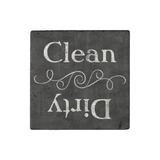 Cocina limpia/sucia del estilo de la pizarra del imán de piedra