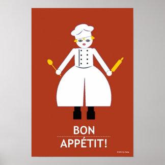 "Cocina Martzkin ""Bon Appétit!"" Poster"