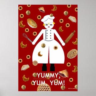 """Cocina Martzkin """"DELICIOSO, YUM, YUM!"""" Poster"""