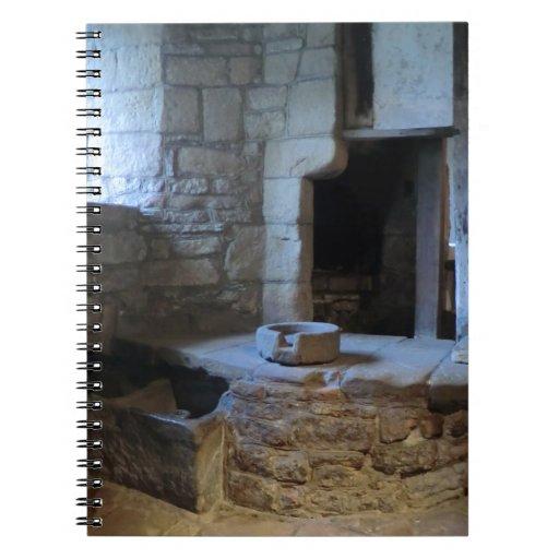 Cocina medieval de Haddon Pasillo Libro De Apuntes