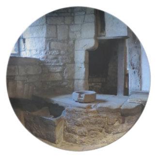 Cocina medieval de Haddon Pasillo Plato