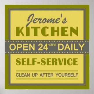 Cocina - nombre de encargo - poster