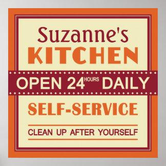 Cocina - nombre de encargo - poster póster