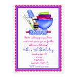 Cocina que cocina invitaciones del cumpleaños invitacion personalizada