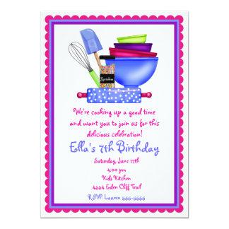 Cocina que cocina invitaciones del cumpleaños invitación 12,7 x 17,8 cm