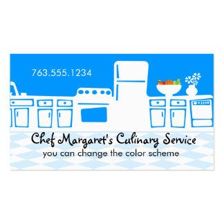 Cocina retra del color de encargo que cocina la tarjetas de visita