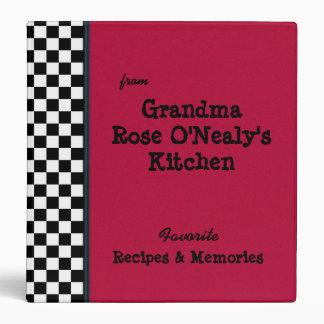 """Cocina roja 1,5"""" de las abuelas receta de encargo carpeta 1 1/2"""""""
