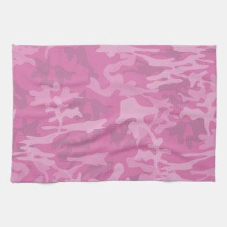 Cocina rosada femenina Towl de Camo Toallas