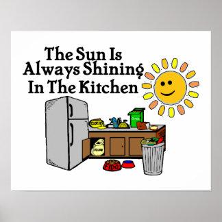 Cocina soleada poster