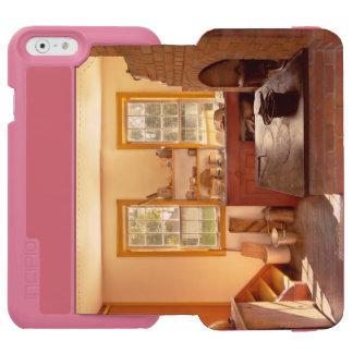 Cocina - una cocina de los 1840's funda billetera para iPhone 6 watson
