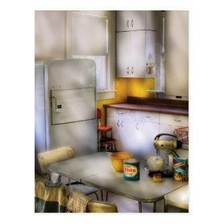 Cocina - una cocina de los años 60 tarjeta postal