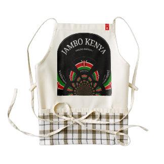 Cocina y cena del delantal del corazón de Jambo Delantal Zazzle HEART