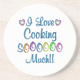 Cocinando amor tanto posavasos diseño