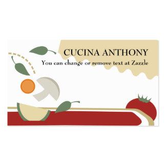 Cocinando busin vegetal vegetariano de la comida tarjetas de visita
