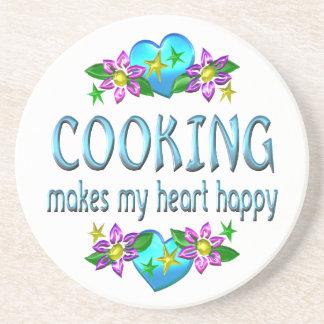Cocinando el corazón feliz posavasos diseño