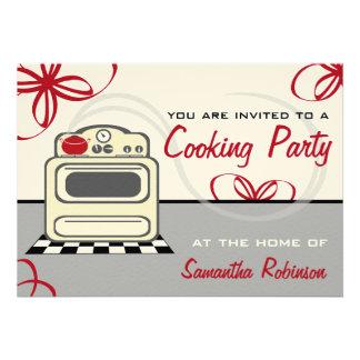 Cocinando el fiesta - cocina retra del rojo de la anuncios