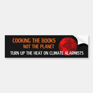 Cocinando los libros, no el planeta pegatina para auto
