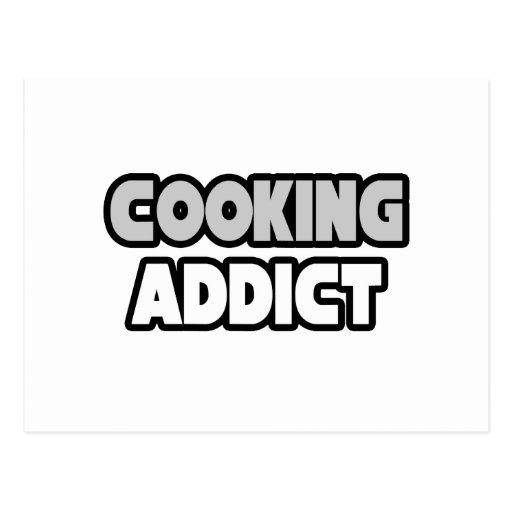 Cocinar al adicto tarjeta postal