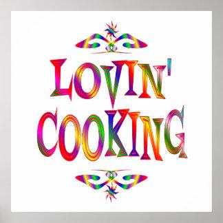 Cocinar al amante posters