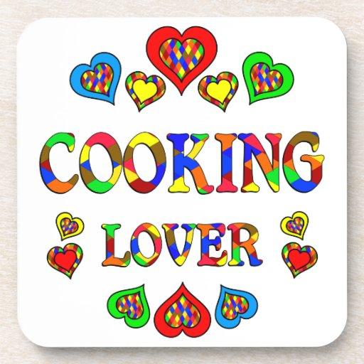 Cocinar al amante posavasos de bebidas
