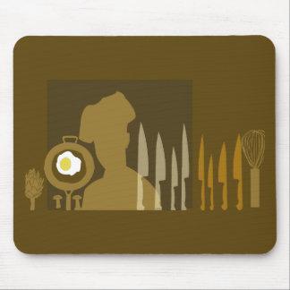 Cocinar al cocinero culinario mousepad
