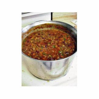Cocinar chile picante fotoescultura vertical