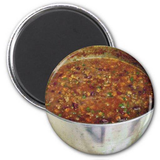 Cocinar chile picante imán redondo 5 cm