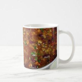 Cocinar chile picante taza de café