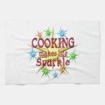 Cocinar chispas toalla de mano