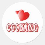 Cocinar corazones pegatinas