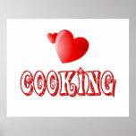 Cocinar corazones poster