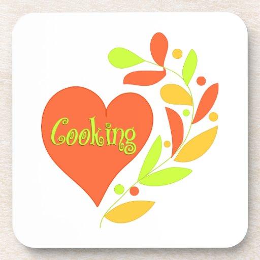 Cocinar el corazón posavasos