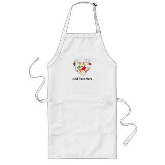 Cocinar el delantal del corazón