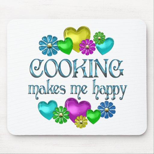 Cocinar felicidad tapetes de raton