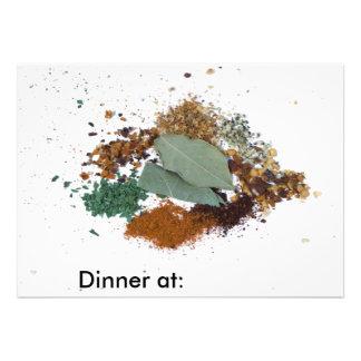 Cocinar invitaciones de las especias anuncios personalizados