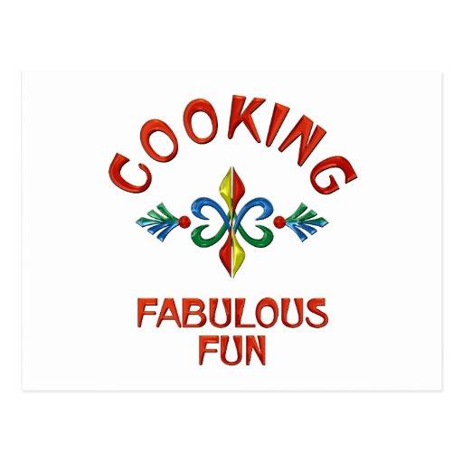 Cocinar la diversión fabulosa postales