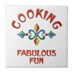 Cocinar la diversión fabulosa tejas  cerámicas