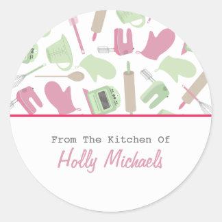 Cocinar la etiqueta de la cocina del modelo