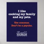 Cocinar la familia y a mascotas impresiones