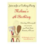 Cocinar la invitación del fiesta