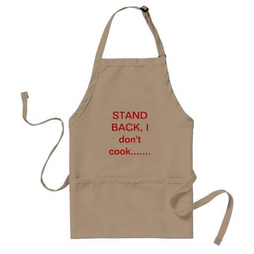 Cocinar la precaución delantal