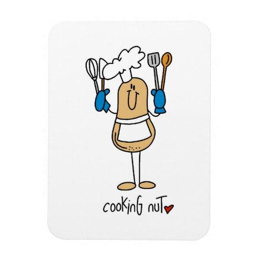 Cocinar las camisetas y los regalos de la nuez imanes de vinilo
