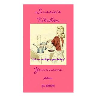 cocinar los años 50 tarjeta de negocio