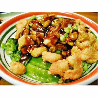 Cocinar los cacahuetes Shr de Brocolli de las vain Fotoescultura Vertical