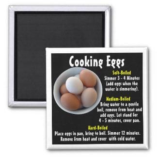 Cocinar los huevos iman para frigorífico
