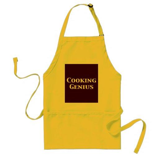 Cocinar los regalos del genio delantales